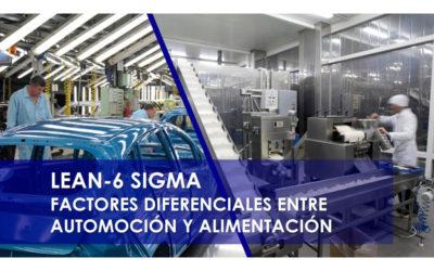 LEAN-6 SIGMA. FACTORES DIFERENCIALES ENTRE AUTOMOCIÓN Y ALIMENTACIÓN