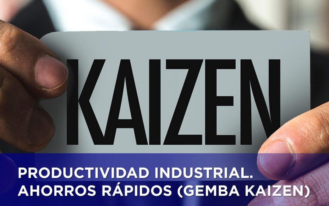 PRODUCTIVIDAD INDUSTRIAL. AHORROS RÁPIDOS (GEMBA KAIZEN)