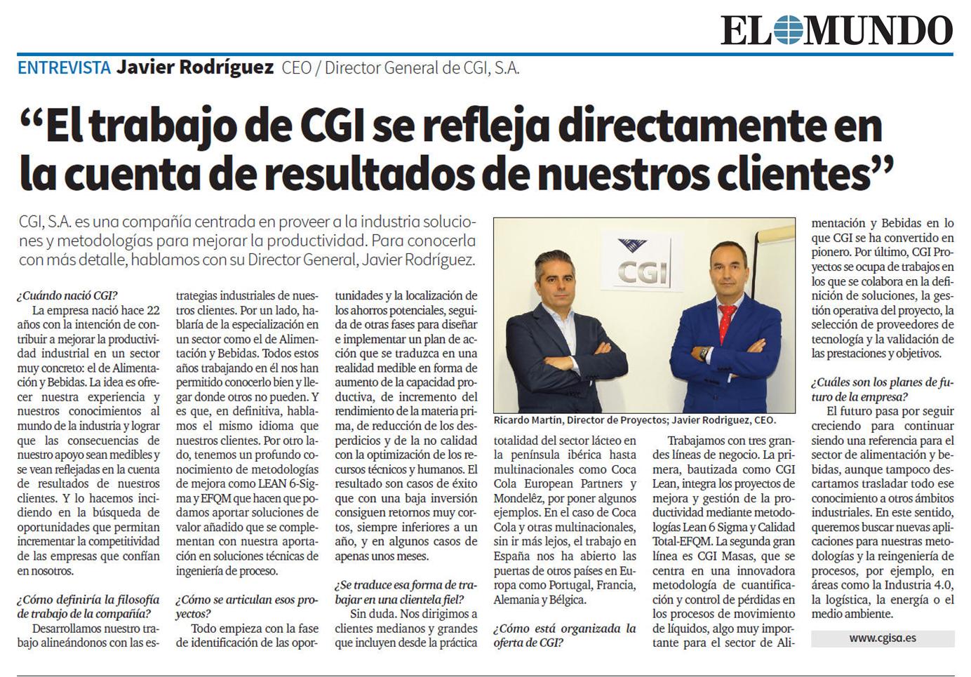 Entrevista con Javier Rodríguez – EL MUNDO